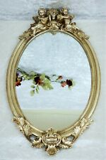 Spiegel Barock Wandspiegel Engel gold Rahmen Antik Badspiegel Jugendstil Deko
