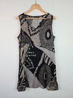 Philosophy Australia Multi Print Patchwork Crinkle Sleeveless Dress Women's 16