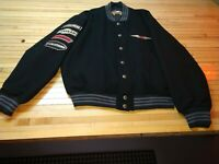 Harley Davidson Wool Bomber Jacket with Patches