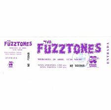 The Fuzztones Concert Ticket Stub Valencia Spain 4/20/88 Pacha Nine Months Later