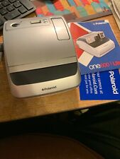 Vintage Polaroid One 600 Ultra Classic Instant Film Camera Silver with Manual