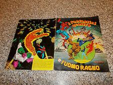 ALBUM I FANTASTICI QUATTRO E L'UOMO RAGNO ED.SOLARIS 1978 COMPLETO(-9 FIG)BUONO