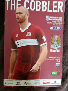 NORTHAMPTON TOWN v TRANMERE ROVERS Sky Bet league 2 14 March 2015 + Team sheet