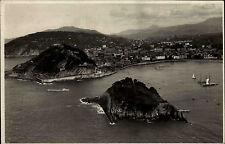 San Sebastián Baskenland Spanien s/w AK 1929 frankiert Blick vom Monte Ilgueldo