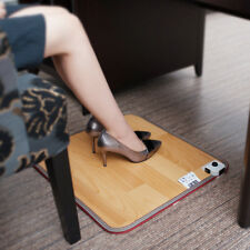 Winter Electric Foot Feet Warmer Heated Floor Carpet Pad Mat Office Home 50*30cm