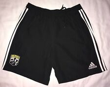 Columbus Crew SC Black Athletic Exercise Logo Shorts adidas Large