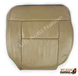 2005-2008 Ford F150 Lariat Driver Side Bottom Replacement Leather Seat Cover Tan