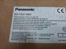 1x PANASONIC KX-TDA1180X , PBX / 8-PORT ANALOG TRUNK CARD WITH CID File  , NEW