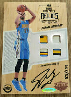 2016-17 Upper Deck Supreme Hard Court Jamal Murray Rookie RC 4 Patch Auto /199