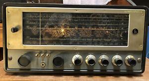 Vtg Hallicrafters Model SX-62 Radio Ham Shortwave AM FM Powers Up Asis