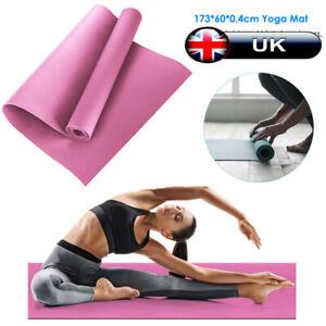 Yoga Mat Gymnastic Fitness Workout Non-Slip Exercise Physio Pilates 173x60cm UK
