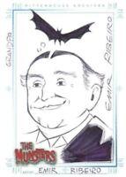 Munsters (2005) Artist Emil Ribeiro Autograph Sketch Card Grandpa Munster