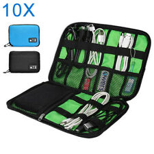 10pcs Portable Travel Gadget Organizer Bag Electronics Accessories Storage Case