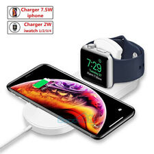 2 in1 QI Wireless Charger Charging Dock Station For Iphone XS XR Apple iWatch
