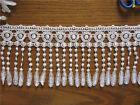 1 yard Fringe White Flower Venise Lace Trim Curtain Applique Sewing Craft DIY