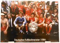 FC Bayern München + Deutscher Fußball Meister 1986 + Fan Big Card Edition F74 +