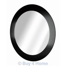Blue Canyon Black Edge Round Bathroom Mirror - Wall Mounted 40cm Circle