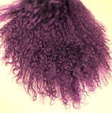 "Tibetan Lamb Mohair for Doll Wigs or Fairy Hair 8 x 4"" Violet Purple"