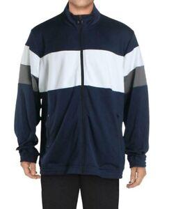 Ideology Men's Track Jacket Blue Size XL Colorblock Front-Zipper $50 #008