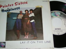 """7"""" - Pointer Sisters Happiness & Lay it on the Line - Promo 1979 MINT # 5701"""