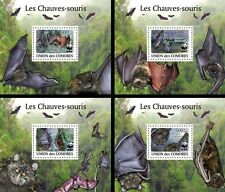 Z08 Cmdelux16perf COMORES 2010 Bats WWF 4 s/s/s MNH