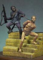 Unassambled 1/32 54mm Ancient Warrior Figure Model Unpainted Garage Kits Statue