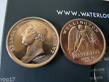 THE BATTLE OF WATERLOO 1815 - 2015  FINE MINT SOLID BRONZE CAMPAIGN MEDAL NEW 1