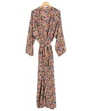 Indian Vintage Silk Sari robe Nightdress robe Bathrobe Sleepwear Kimono Peach