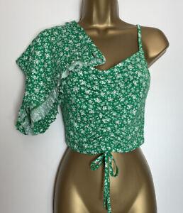 Asos Green Floral Print Stretch Jersey Short Pyjama Set Size 8