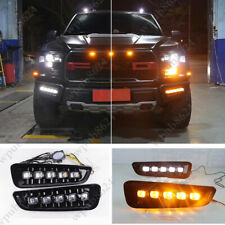 For 2018 2019 Ford F150 Raptor LED DRL Daytime Running Light/Front Fog Lights