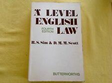 'A' Level English Law (Fourth Edition) by R.S. Sim & D.M.M Scott