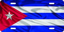 airbrushed aluminum cuba Cuban flag standard car tag license plate