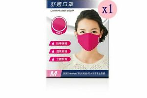 1 Set Washable Mask Fabric Only Mask 8550+ Thinsulate Material (M) Size Pink