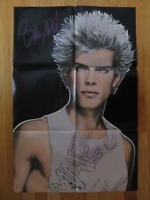 "Vintage Billy Idol Poster ""Rebel Yell"" ""White Wedding"" ""Mony Mony"""
