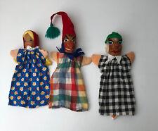 3 alte Lotte Sievers Hahn Holzkopf Handpuppen, Kasperlepuppen #J