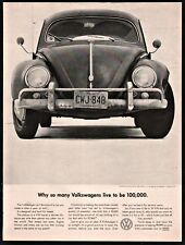 1960 VOLKSWAGEN VW Beetle Bug AD many live to be 100,000
