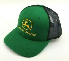 John Deere Tractor Custom Inspired Kelly Green Black Trucker hat Farmer headwear