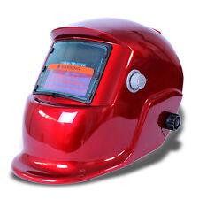 Solar Auto-Darkening Welding Helmet ARC Mig Tig Mag Grinding Welder Mask Red C5