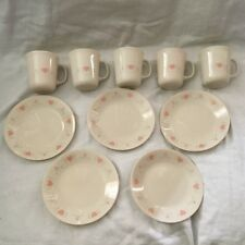 Corning Corelle FOREVER YOURS tea Coffee Cups & Dessert Plates -10 Pcs