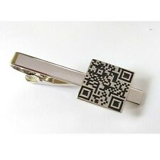 QR Code Tie Clip Bar Clasp Technology Scan Quick Response