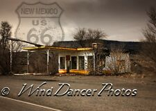 Old Gas Station, Route 66, Infused Aluminum Print, Retro, Southwest, Americana