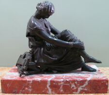 Pradier, James 1790-1856, Bronze Sculpture Louise Colet als Sappho, USC#182