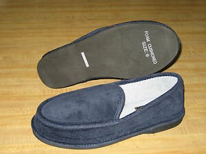 MENS HOUSE SHOES (house slippers) NAVY,  size: 7-13
