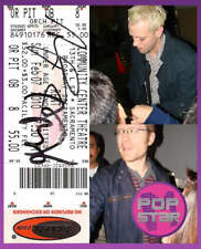 Anthony Rapp Adam Pascal SIGNED Rent FINAL Performance Ticket Stub COA