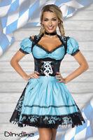 Sexy 3Tlg. Mini Dirndl Trachtenkleid Oktoberfest Trachten Wiesn 5 Farben Modelle