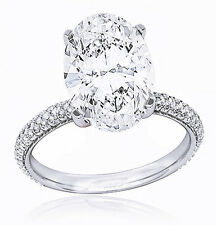 Stunning 1.60 Ct. Oval Cut Diamond Micro Pave Engagement Ring H, VS2 GIA