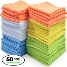 Micro Fiber 50 pcs Soft Cloth Towels Set for Auto Car Detailing Cleaning Washing