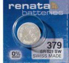 1 x Renata Batterie 379 Knopfzelle V379 1,55V SR 521 SW SR 63 SR63SW AG0 16mAh