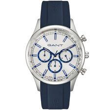 Gant GTAD09100299I Ridgefield Chronograph silber blau Silikon Herren Uhr NEU