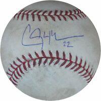 Clayton Kershaw Game Used Signed Baseball 8/27/13  vs Gilespie Dodgers EK659734